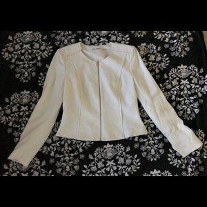 Calvin Klein off white zip up blazer